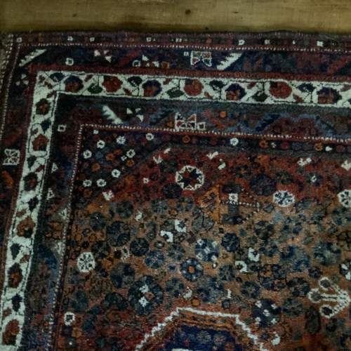 Old Hand Knotted Persian Shiraz Wonderful Shadings A Lovely Piece image-5