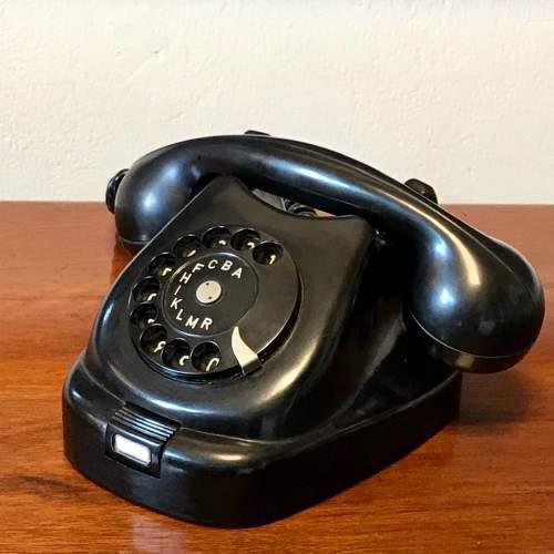 Vintage 1960s Black Bakelite Telephone image-1