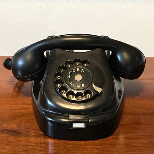 Vintage 1960s Black Bakelite Telephone image-2
