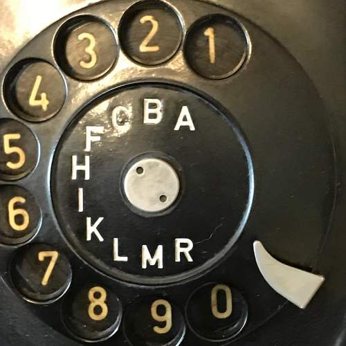 Vintage 1960s Black Bakelite Telephone image-4