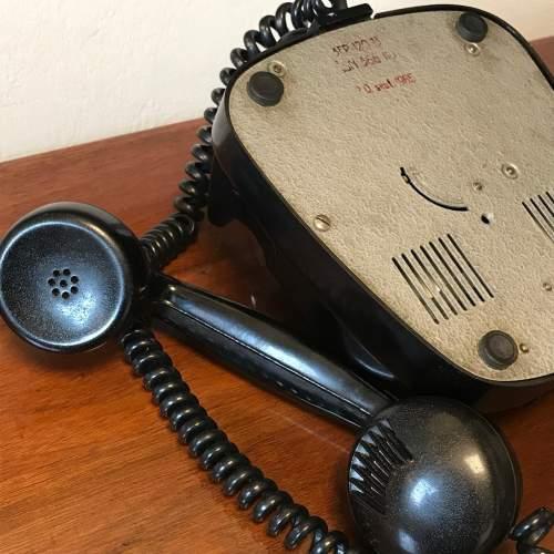Vintage 1960s Black Bakelite Telephone image-6