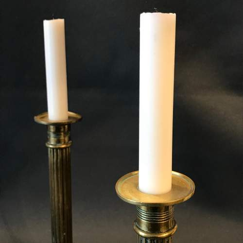 Pair of Ornate Brass Candlesticks image-3