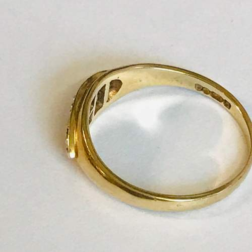 Vintage 9ct Gold Emerald and Pearl Ring image-3