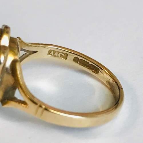 Vintage 9ct Gold Garnet Solitaire Ring image-4