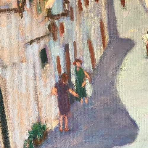 20th Century Oil on Canvas of the Slopes of Pollensa image-2