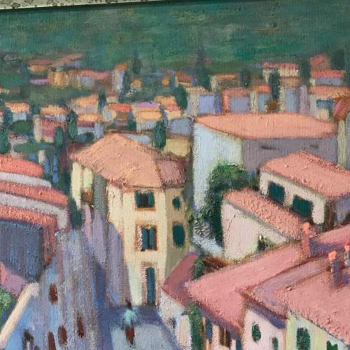 20th Century Oil on Canvas of the Slopes of Pollensa image-4