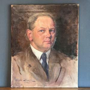 1940s Oil on Canvas of a Gentleman