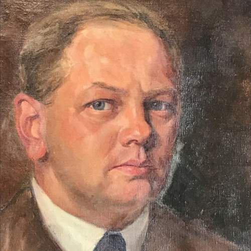 1940s Oil on Canvas of a Gentleman image-2