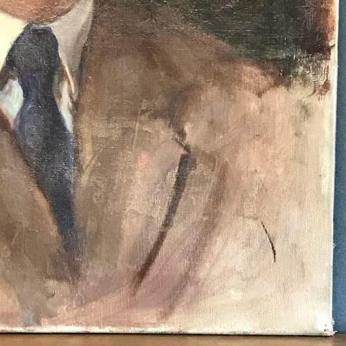 1940s Oil on Canvas of a Gentleman image-3