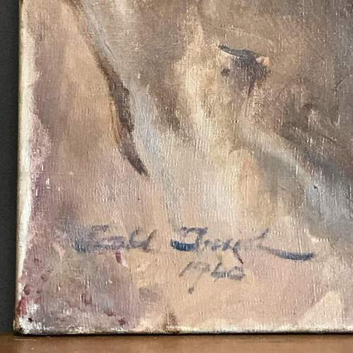 1940s Oil on Canvas of a Gentleman image-4