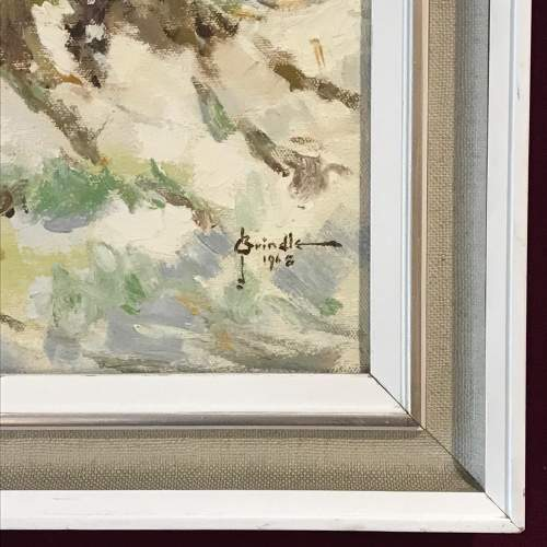 20th Century Signed Oil on Canvas of a Winter Scene image-4