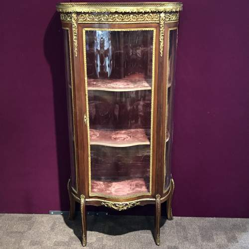 Late 19th Century French Walnut and Mahogany Display Cabinet image-1