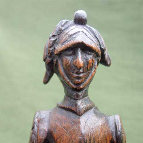 An Oak Carving of a  Medieval Knight image-2
