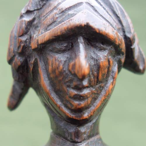 An Oak Carving of a  Medieval Knight image-3