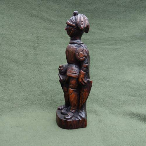 An Oak Carving of a  Medieval Knight image-5