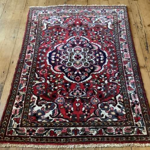 Old Hand Knotted Persian Rug Saruk Floral Medallion Design image-1