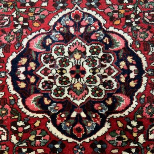 Old Hand Knotted Persian Rug Saruk Floral Medallion Design image-2