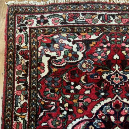 Old Hand Knotted Persian Rug Saruk Floral Medallion Design image-3