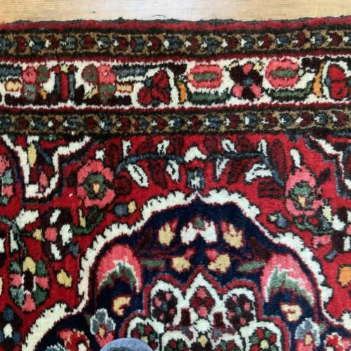 Old Hand Knotted Persian Rug Saruk Floral Medallion Design image-5