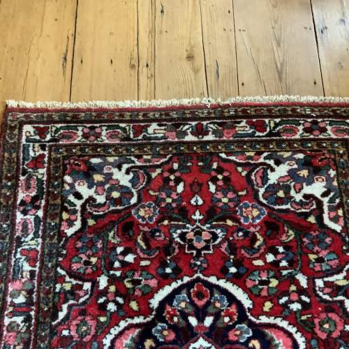 Old Hand Knotted Persian Rug Saruk Floral Medallion Design image-6