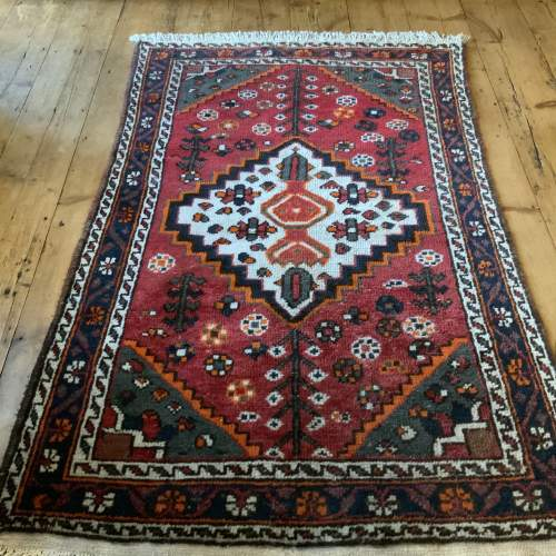 Old Hand Knotted Persian Shiraz Village Rug image-1