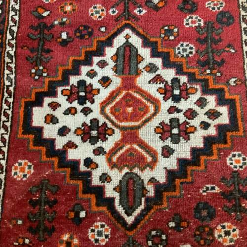 Old Hand Knotted Persian Shiraz Village Rug image-2