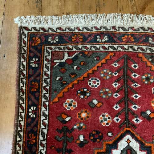 Old Hand Knotted Persian Shiraz Village Rug image-3