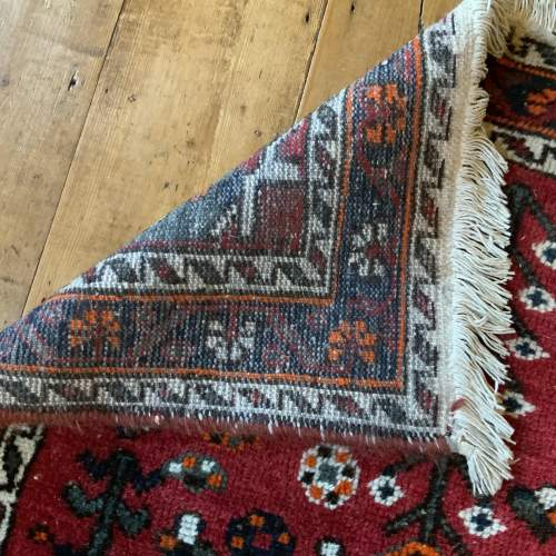 Old Hand Knotted Persian Shiraz Village Rug image-4
