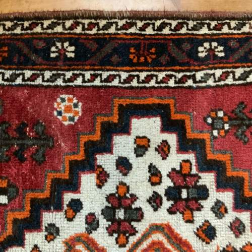 Old Hand Knotted Persian Shiraz Village Rug image-5
