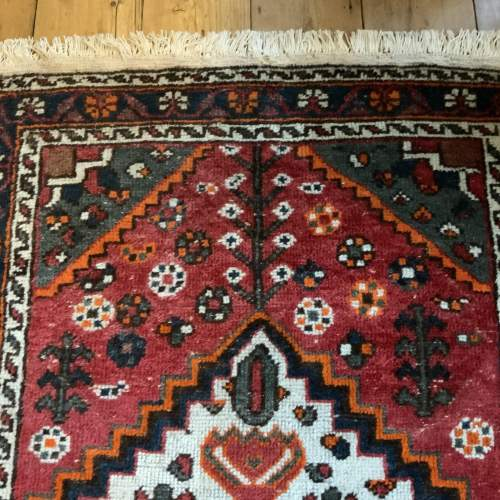 Old Hand Knotted Persian Shiraz Village Rug image-6