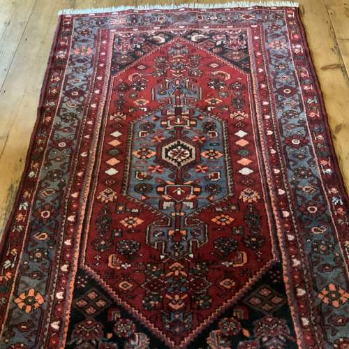 Old Hand Knotted Persian Rug with Central Medallion Design image-1
