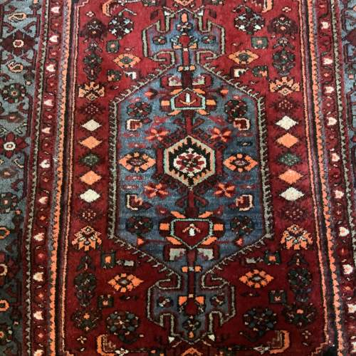 Old Hand Knotted Persian Rug with Central Medallion Design image-2