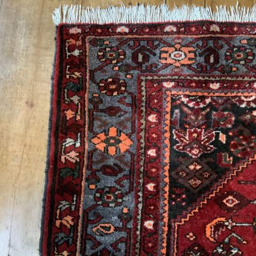 Old Hand Knotted Persian Rug with Central Medallion Design image-4