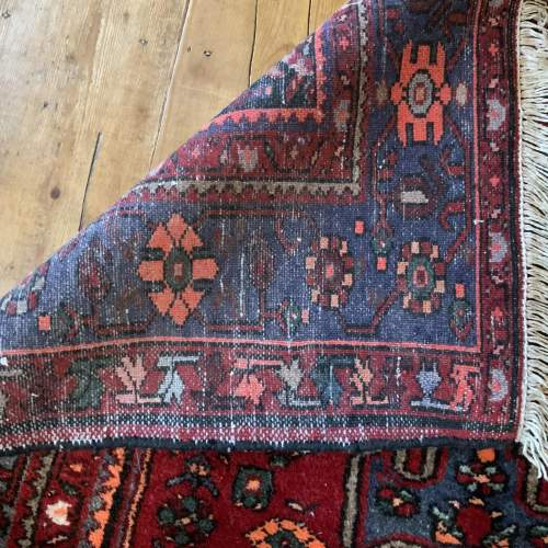 Old Hand Knotted Persian Rug with Central Medallion Design image-5
