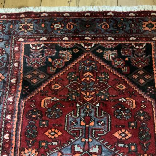 Old Hand Knotted Persian Rug with Central Medallion Design image-6