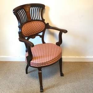 Fine Hepplewhite Revival Mahogany Armchair