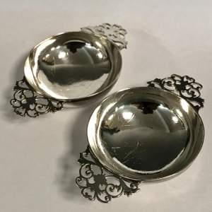 Pair of Edwardian Period Silver Quaichs