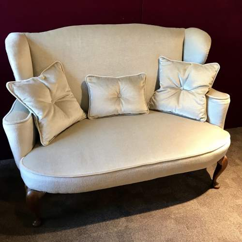 Two Seater Wing Back Settee image-1