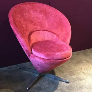 Retro Pink Cone Chair