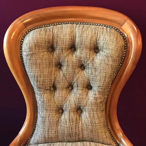 Pair of Edwardian Mahogany Framed Armchairs image-3