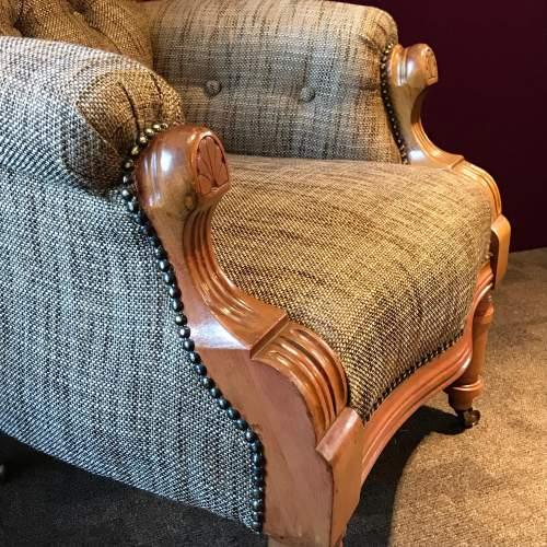 Pair of Edwardian Mahogany Framed Armchairs image-5