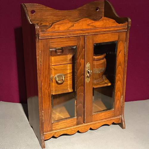 1920s Oak Smokers Cabinet image-1