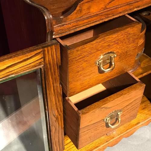 1920s Oak Smokers Cabinet image-3