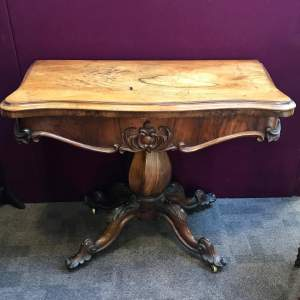 Victorian Walnut Fold Over Table