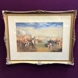 20th Century Venice By Turner Watercolour by PS Laws