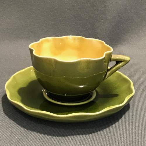 Linthorpe Pottery Cup and Saucer image-1