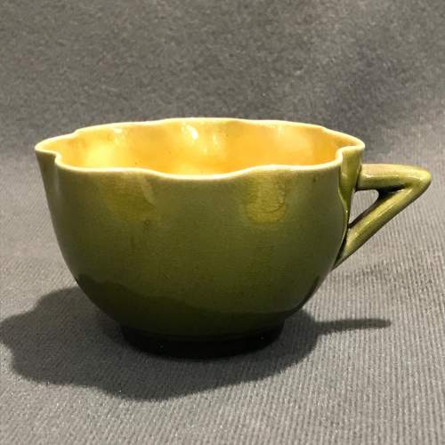 Linthorpe Pottery Cup and Saucer image-4