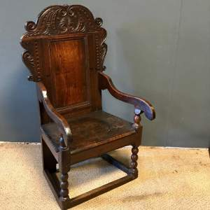 17th Century Carved Oak Chair