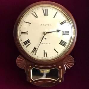 Regency Fusee Drop Dial Wall Clock
