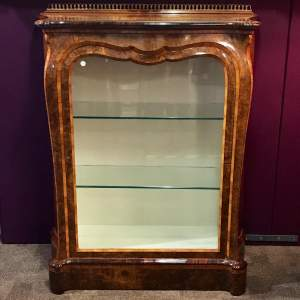 Fine 19th Century Burr Walnut Serpentine Bombe Shaped Cabinet